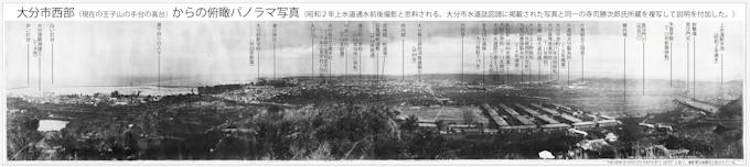 昭和2年の大分市中心部